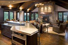 Open Kitchen Great Room Plans | nikkiMdesign: Industrial Rustic