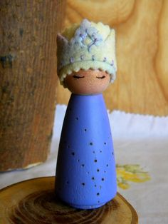Birthday Doll, Birthday Queen, Waldorf Birthday, Waldorf Gnome, Wooden Doll