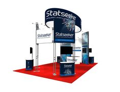 SkyTruss Modular Trade Show Display with Hanging Fabric Ring