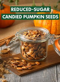 #SquashGoals. When you carve your pumpkin this year, don't throw away the seeds. Instead, learn how to cook Pumpkin Seeds with Truvia Brown Sugar Blend to make a sweet treat with fewer calories.