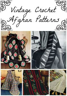 30 Vintage Crochet Afghan Patterns -free e-book for a variety of crochet afghans with a vintage feel.