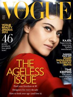 Vogue India August 2012 Kajol in red