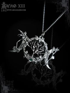 triple moon pendant with Tree of life necklace