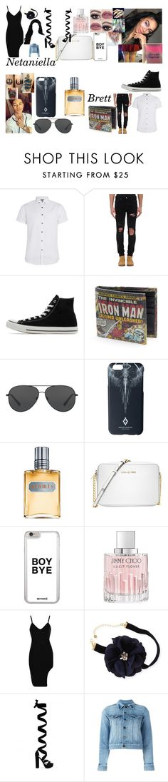 """The Bad Girls Good Boy"" by teylorann on Polyvore featuring Topman, AMIRI, Converse, Michael Kors, Marcelo Burlon, Aramis, Jimmy Choo, Lydell NYC and Yves Saint Laurent"