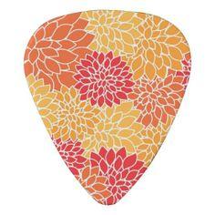 Beautiful Floral Guitar Pick