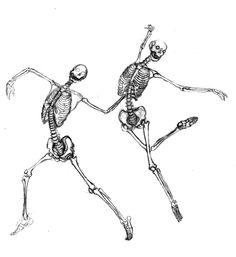 Dancing Skeleton | love these dancing skeletons by artist shir a