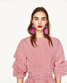 ZARA - WOMAN - POMPOM EARRINGS