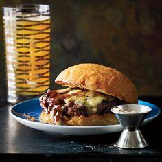 umami burger w/ port & stilton