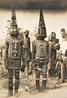 Kwoho dancers. Edo region, Nigeria. Early 1900s. Photographer: Thomas Northcote.