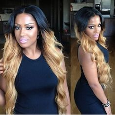 Long ombre weave Quality Celebrity grade Hair extentions! Inbox me! http://www.facebook.com/SimplyYouniquesBeautifulHair/         585-210-9838