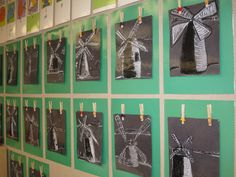 laminate background paper, glue on 2 clothes pins and easy hang