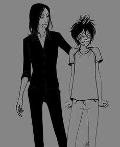 Snape/Harry by LiaBatman on DeviantArt