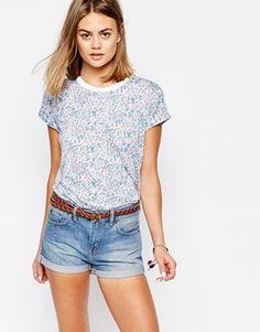 Jack Wills - T-shirt coupe masculine à imprimé floral