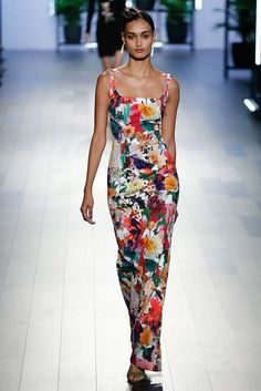 Gizele Oliveira for Cushnie et Ochs Spring 2018 Ready-to-Wear collection.
