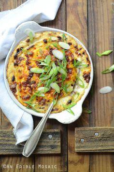 Steakhouse-Style Loaded Cheesy Cauliflower MashReally nice  Mein Blog: Alles rund um die Themen Genuss & Geschmack  Kochen Backen Braten Vorspeisen Hauptgerichte und Desserts # Hashtag