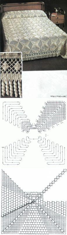 Knit crochet elegant veil
