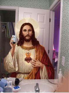 Jesus self shot