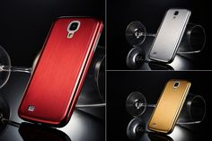 Gold, Red or Silver S4 Samsung Galaxy Brushed Aluminium Metal Case at mobilephonecases.co.nz #MobilePhoneCases #CellPhoneCases #iPhoneCases #iPadCases #SamsungGalaxyCases #S4 #Gold #Red #Silver