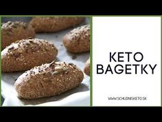 Keto bagetky | Video recept | Schudni s Keto - YouTube Low Carb Keto, Low Carb Recipes, Protein, Muffin, Bread, Snacks, Breakfast, Youtube, Low Carb