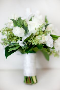 Frances Dunn Florist Green and White Wedding