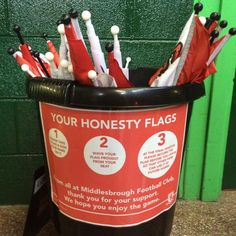 Honesty Flags...what a novel idea by this team. Thanks to Mark Bradley for posting this one.