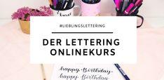 Frau Liebling - DIY Blog - Deko, Geschenke, Lettering - Basic Lettering Guide - einfach Lettering lernen 3d Origami, Pilot Pens, Diy Letters, Diy Blog, Planer, Back To School, Happy Birthday, Company Logo, Xmas