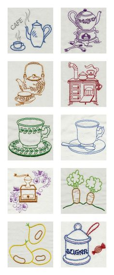 Vintage Kitchen 1 Embroidery Machine Design Details