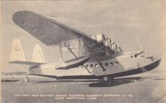 Seaplane (Pan American Airways) 1930s At East HARTFORD Conn. Plant