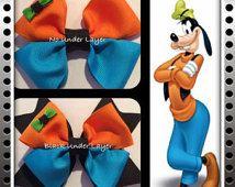 Disney's Goofy inspired hair bow