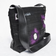 Ecofriendly bag made from recycled bike inner tubes by KlintDesign, $160.00