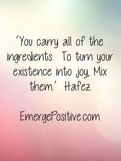 Happy Friday!  Emerge Positive!