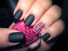 Black matte with a touch of pink. Not sure I would do the jewels though.