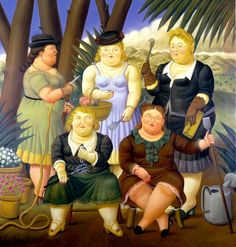 Commission your favorite Fernando Botero oil paintings from thousands of available paintings. All Fernando Botero paintings are hand painted and include a money-back guarantee. Diego Rivera, Moritz Von Schwind, Frida Diego, James Ensor, Clemente Orozco, Illustrator, Colombian Art, Family Painting, Woman Painting