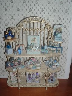 Blue perfume display