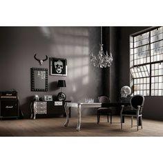 Kare 23210 Deko Kopf Rockstar by Geiss Accessoires, Polyresin, Sockel, marmor / silber / schwarz, 22 x 35 x 52 cm #homeidea #dekokopf #skull
