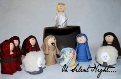 with felt costumes-would be cuter :-)