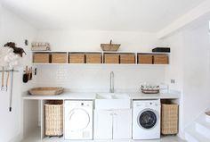 White Laundry Room Bath Somerset