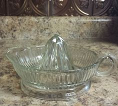 1920s/ 1930s Vintage Glass Juicer by VintageAndNotShoppe on Etsy