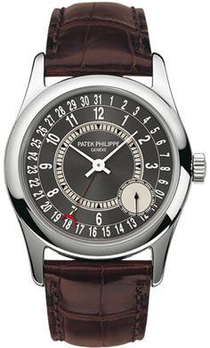 6000G-010 Patek Philippe Calatrava Mens 18K White Gold Watch | WatchesOnNet.com