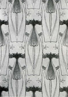 'Portledge' wallpaper design by Harry Napper, Produced in 1906.
