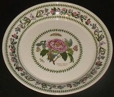 "Portmeirion VARIATIONS Dinner Plate Shrubby Peony 10.5"" England FREE US Ship #Portmeirion"