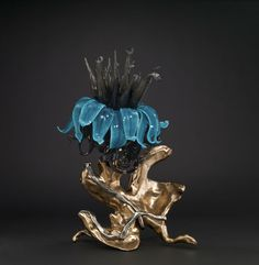 When Lightning Blooms, Ginny Ruffner, Seattle, WA, Sculptures, Lion Sculpture, Corning Museum Of Glass, Sandblasted Glass, Kiln Formed Glass, Glass Collection, Black Glass, Amazing Art, Lightning