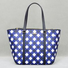 Kate Spade Newbury Lane Gingham Briar in French Navy/Cream.  This bag is so fabulous.  There really are no words.