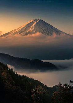 Sunset over mt. Fuji, Japan