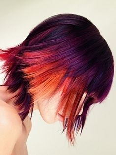 multi colored hair colored-rainbow-hair
