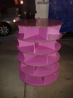 Lazy susan shoe rack... my hubby and brother made it!