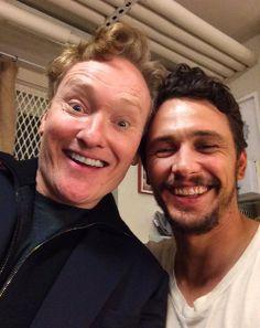 James Franco with Conan