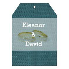 Modern simple blue wedding invite
