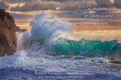"""A giant wave with inspiring quote:  """"The boisterous sea of liberty is never without a wave.""""  Thomas Jefferson, 3rd US President Prints available at http://giovanni-allievi.artistwebsites.com/art/all/inspiring+quotes/all"""