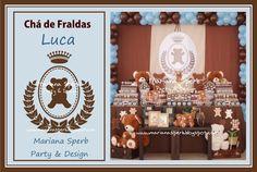 Mariana Sperb: Chá de Bebê de Urso Menino Marrom e Azul